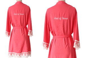 coral-cotton-bridesmaid-robe-with-maid-of-honor