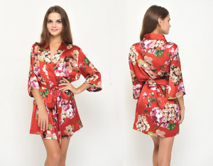 red-floral-satin-bridesmaid-robes-without-lace-trim