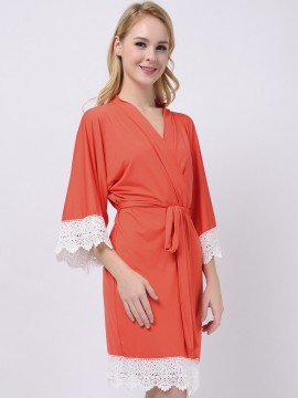 Coral Jersey Stretchy Robes Bridesmaid Gifts Bridesmaid Robes Wedding Gifts Modal Robes For Bridesmaids Maternity Robe