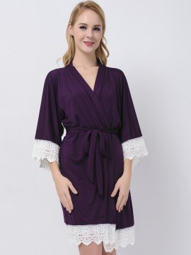 Eggplant Jersey Stretchy Robes Bridesmaid Gifts Purple Bridesmaid Robes Modal Wedding Gifts Cheap Bridesmaids Robes Maternity Robe