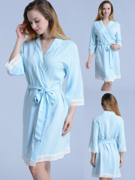 Set of 3 bridesmaid gifts kimono robes-Lace A