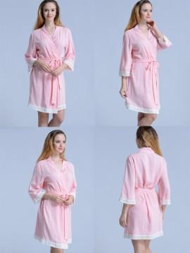 Set of 8 bridesmaid gifts kimono robes-Lace A