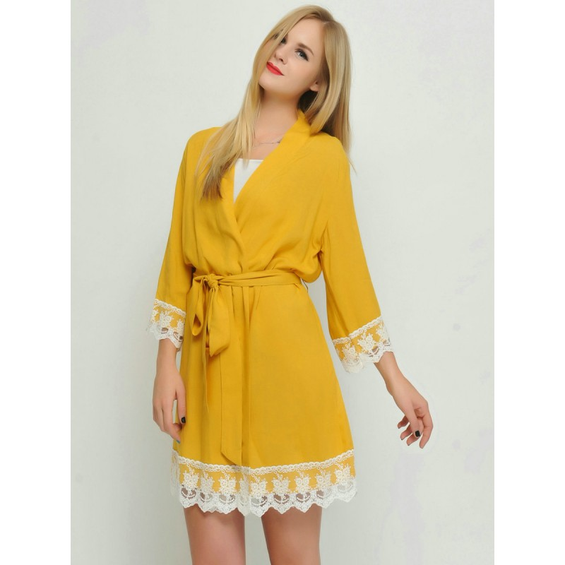 style exquis meilleure qualité luxe Bridesmaid gift mango kimono robes-Lace B