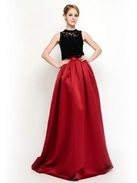 Blaire Top & Vinist Long Skirt  - 2 Piece prom dress / Bridesmaid Dresses