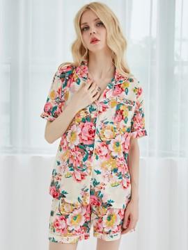 Chiffon Floral Bridesmaid Pajamas Bridesmaid Shirt