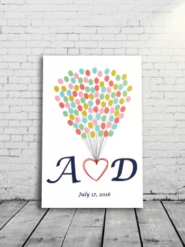 Dream Balloon Alternative Wedding Guest Book