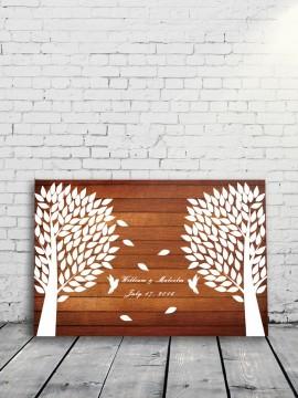 Wedding tree Guestbook alternative Rustic style