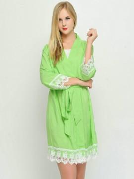 Bridesmaid gift neon green kimono robes-Lace B