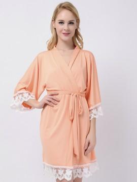 Peach Jersey Stretchy Robes Cheap Robes Bridesmaid Robes Kimono Robes Modal Bridesmaid Shirts Cheap Bridesmaid Gifts