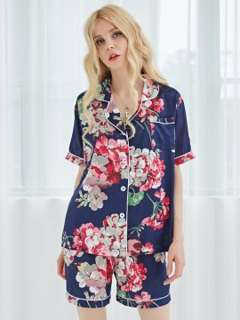 Satin Women's Pajama Bridesmaid Nightgown