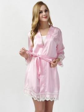 Satin soft pink kimono robes bridesmaid robes