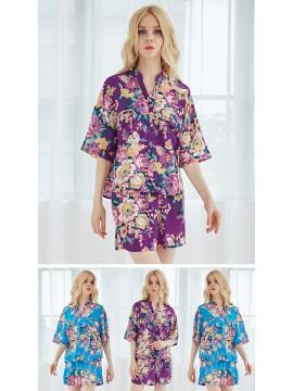 Personalized Pajamas PJ Sets Chiffon Floral Bridesmaid Gifts