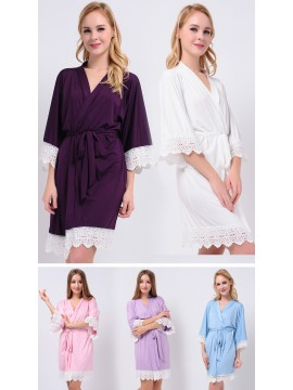 Jersey Kimono Robes Lace Robes Bridesmaid Robes