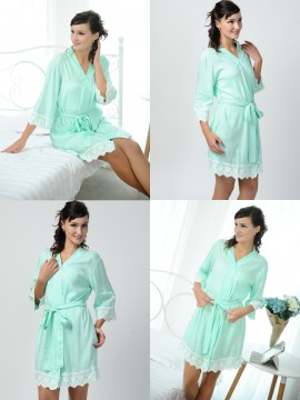 Set of 9 bridesmaid gifts kimono robes-Lace B