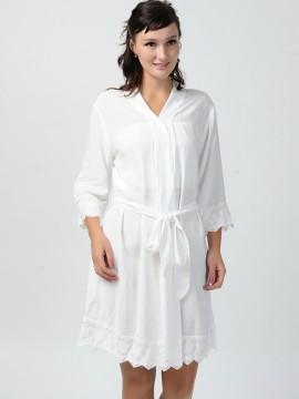 White kimono robes bride robe-Lace B